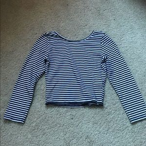 Abercrombie Kids Striped 3/4 Length Sleeve